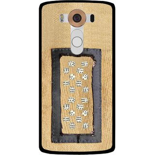 Snooky Printed Dice Mobile Back Cover For Lg V10 - Brown