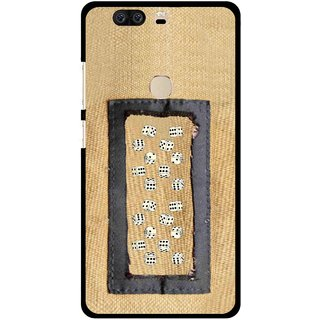 Snooky Printed Dice Mobile Back Cover For Huawei Honor 8 - Brown