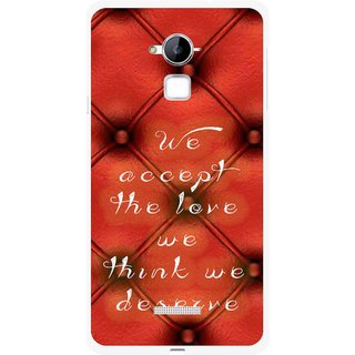 Snooky Printed We Deserve Mobile Back Cover For Coolpad Note 3 - Red