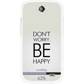 Snooky Printed Be Happy Mobile Back Cover For Gionee Pioneer P2 - Grey