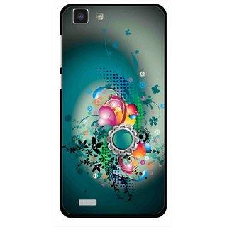 Snooky Printed Sky Flower Mobile Back Cover For Vivo Y27L - Multi