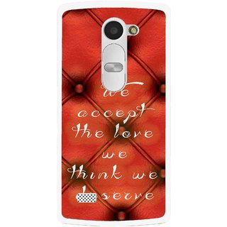 Snooky Printed We Deserve Mobile Back Cover For Lg Leon - Red