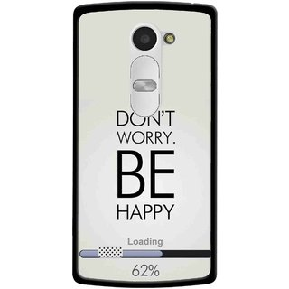 Snooky Printed Be Happy Mobile Back Cover For Lg Leon - Grey