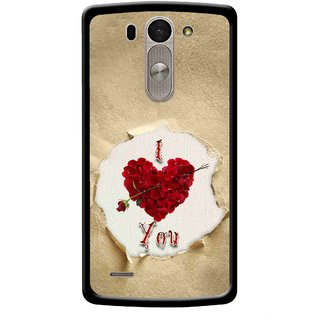 Snooky Printed Love Heart Mobile Back Cover For Lg G3 Beat D722k - Multi
