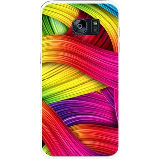Snooky Printed Color Waves Mobile Back Cover For Samsung Galaxy S7 - Multi