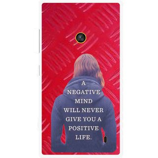 Snooky Printed Be Positive Mobile Back Cover For Nokia Lumia 520 - Red