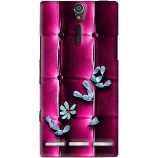 Snooky Printed Love Air Mobile Back Cover For Sony Xperia S - Purple