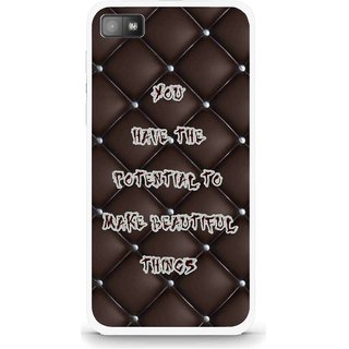 san francisco 3c918 c4ea0 Snooky Printed Beautiful Things Mobile Back Cover For Blackberry Z10 - Brown