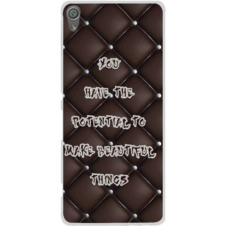 Snooky Printed Beautiful Things Mobile Back Cover For Sony Xperia XA1 - Brown