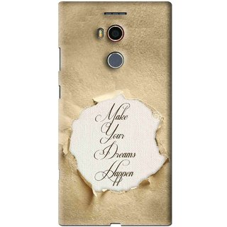 Snooky Printed Dreams Happen Mobile Back Cover For Gionee Elife E8 - Brown