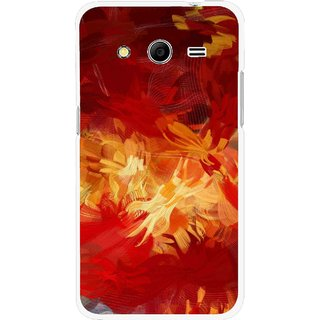 Snooky Printed Flamy Fire Mobile Back Cover For Samsung Galaxy G355 - Red