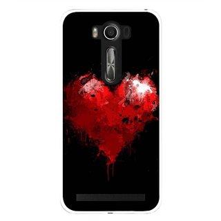 Snooky Printed Crying Heart Mobile Back Cover For Asus Zenfone 2 Laser ZE500KL - Black