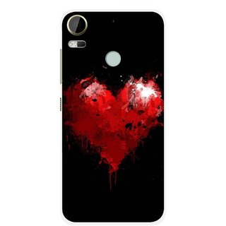 Snooky Printed Crying Heart Mobile Back Cover For HTC Desire 10 Pro - Black