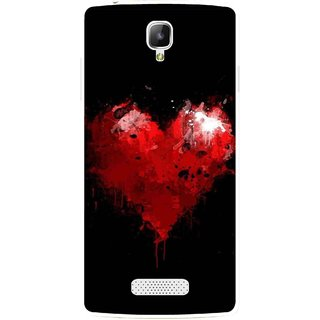 Snooky Printed Crying Heart Mobile Back Cover For Oppo Neo 3 R831k - Black