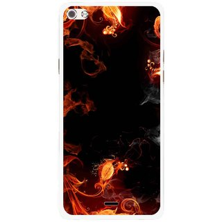Snooky Printed Fire Lamp Mobile Back Cover For Micromax Canvas Sliver 5 Q450 - Orange