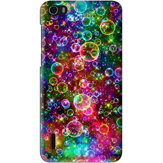 Snooky Printed Funky Bubbles Mobile Back Cover For Huawei Honor 6 - Multi