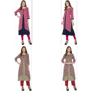 Extend Clothings Rayon Fabric Women Long Kurtis