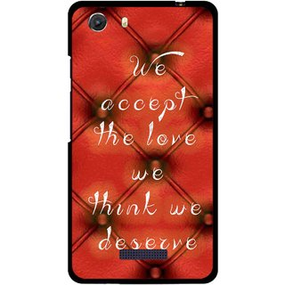 Snooky Printed We Deserve Mobile Back Cover For Micromax Canvas Unite 3 - Red