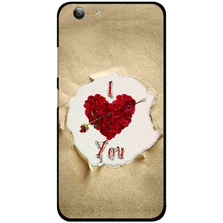 newest ac757 f8fde Snooky Printed Love Heart Mobile Back Cover For Vivo Y53 - Multi