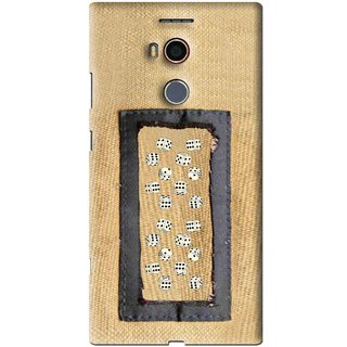 Snooky Printed Dice Mobile Back Cover For Gionee Elife E8 - Brown