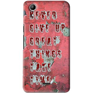 release date: cfd56 cff02 Snooky Printed Never Give Up Mobile Back Cover For Micromax Canvas Selfie  Lens Q345 - Red