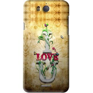 best loved 447da 4ba2f Snooky Printed I Love You Mobile Back Cover For Infocus M530 - Brown