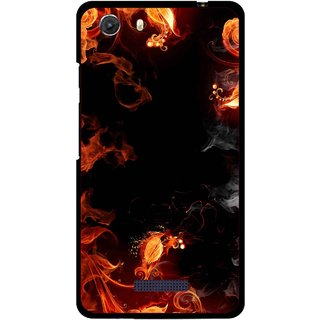 Snooky Printed Fire Lamp Mobile Back Cover For Micromax Canvas Unite 3 - Orange