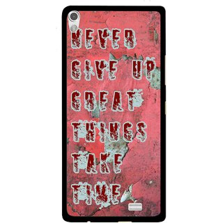 Snooky Printed Never Give Up Mobile Back Cover For Gionee Elife S5.1 - Red