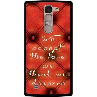 Snooky Printed We Deserve Mobile Back Cover For Lg Spirit - Red