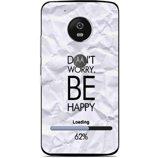 Snooky Printed Be Happy Mobile Back Cover For Moto G5 - Grey