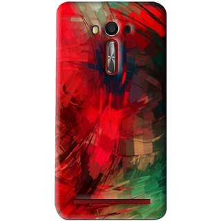 Snooky Printed Modern Art Mobile Back Cover For Asus Zenfone Laser - Red