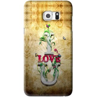 Snooky Printed I Love You Mobile Back Cover For Samsung Galaxy Note 5 Edge - Brown