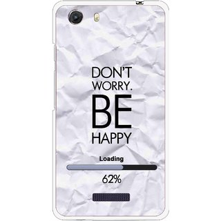 Snooky Printed Be Happy Mobile Back Cover For Micromax Canvas Unite 3 - Grey