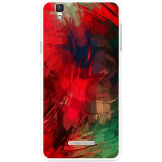 Snooky Printed Modern Art Mobile Back Cover For Micromax Yu Yureka Plus - Red
