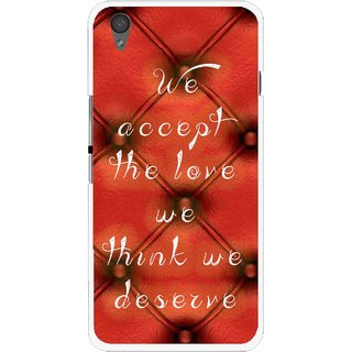 Snooky Printed We Deserve Mobile Back Cover For One Plus X - Red