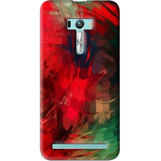 Snooky Printed Modern Art Mobile Back Cover For Asus Zenfone Selfie - Red