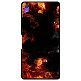Snooky Printed Fire Lamp Mobile Back Cover For Sony Xperia Z2 - Orange