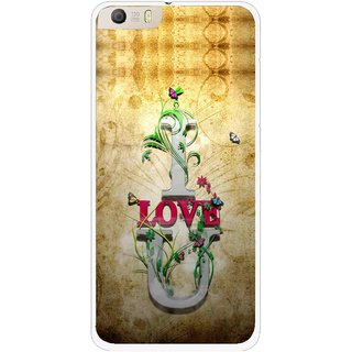 Snooky Printed I Love You Mobile Back Cover For Micromax Canvas Knight 2 E471 - Brown