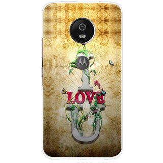 Snooky Printed I Love You Mobile Back Cover For Moto G5 Plus - Brown