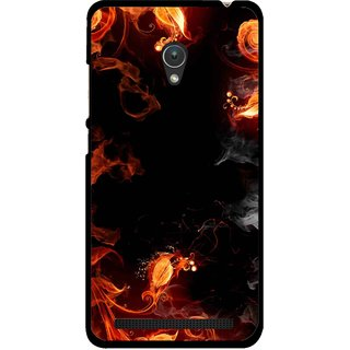 Snooky Printed Fire Lamp Mobile Back Cover For Asus Zenfone 5 - Orange
