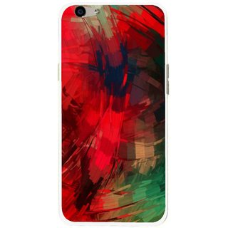 Snooky Printed Modern Art Mobile Back Cover For Oppo F1s - Red