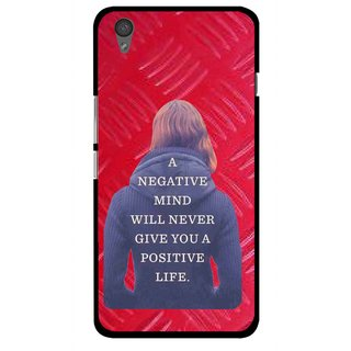 Snooky Printed Be Positive Mobile Back Cover For One Plus X - Red