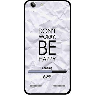 Snooky Printed Be Happy Mobile Back Cover For Lenovo Vibe K5 Plus - Grey