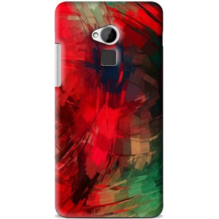 Snooky Printed Modern Art Mobile Back Cover For HTC One Max - Red