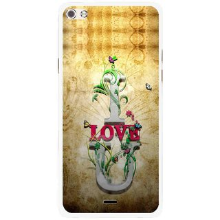 Snooky Printed I Love You Mobile Back Cover For Micromax Canvas Sliver 5 Q450 - Brown