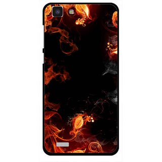 Snooky Printed Fire Lamp Mobile Back Cover For Vivo Y27L - Orange