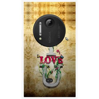 Snooky Printed I Love You Mobile Back Cover For Nokia Lumia 1020 - Brown