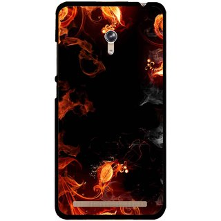Snooky Printed Fire Lamp Mobile Back Cover For Asus Zenfone 6 - Orange