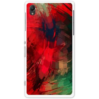 Snooky Printed Modern Art Mobile Back Cover For Sony Xperia Z1 - Red