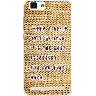 ... Buy Snooky Printed Keep A Smile Mobile Back Cover For Vivo X5 Max Brown Online Get